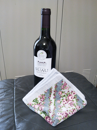 ワインと素敵なハンカチ